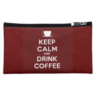 Keep Calm and Drink Coffee Cosmetics Bags