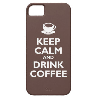 Keep Calm and Drink Coffee (mocha) Barely There iPhone 5 Case