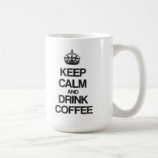 KEEP CALM AND DRINK COFFEE BASIC WHITE MUG