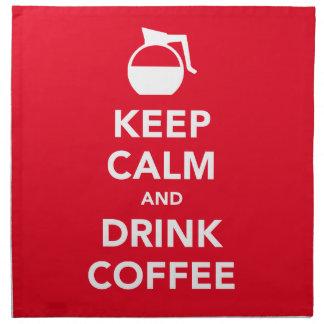 Keep calm and drink coffee napkins (customizable)