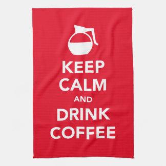 Keep calm and drink coffee towel (customizable)