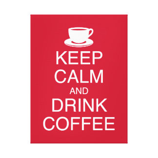 Keep Calm and Drink Coffee Wall Art Wrapped Canvas Gallery Wrapped Canvas