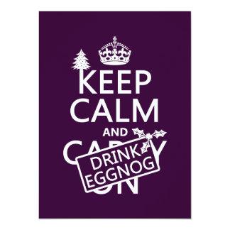Keep Calm and Drink Eggnog (customize colors) 14 Cm X 19 Cm Invitation Card