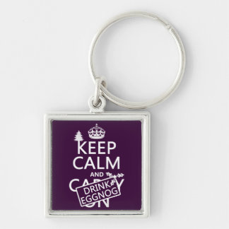 Keep Calm and Drink Eggnog customize colors Key Chains