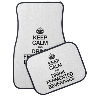 KEEP CALM AND DRINK FERMENTED BEVERAGES FLOOR MAT
