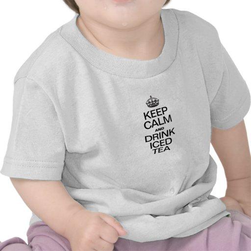 KEEP CALM AND DRINK ICED TEA TEE SHIRT