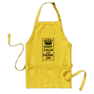 Keep Calm and Drink On - British Government Parody Standard Apron