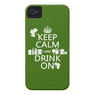 Keep Calm and Drink On (irish st patricks) iPhone 4 Case-Mate Case