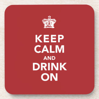 Keep Calm and Drink On Wine Lover Gift Beverage Coaster