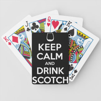Keep Calm and Drink Scotch Bicycle Playing Cards