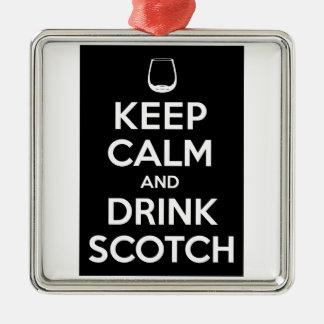 Keep Calm and Drink Scotch Christmas Ornament