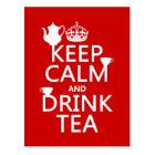 Keep Calm and Drink Tea - All Colours Postcard