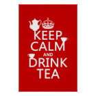 Keep Calm and Drink Tea - All Colours Poster