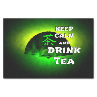 keep calm and drink tea - asia edition - green tea tissue paper