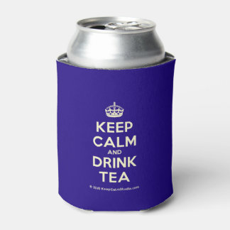 Keep Calm and Drink Tea Can Cooler