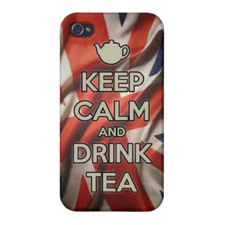 KEEP calm and drink tea carry coffee drinking engl iPhone 4 Covers