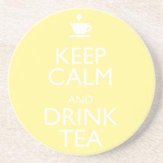 KEEP CALM AND DRINK TEA COASTER