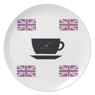 """Keep Calm And Drink Tea""Plate""* Plate"