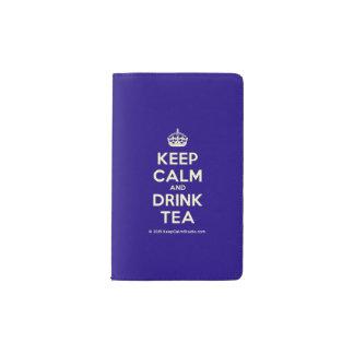 Keep Calm and Drink Tea Pocket Moleskine Notebook