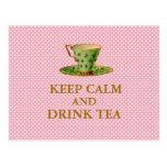 Keep Calm and Drink Tea Postcards