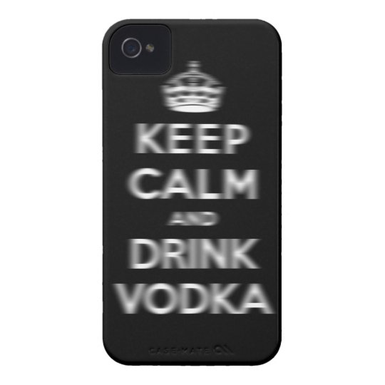 Keep calm and drink vodka iPhone 4 Case-Mate