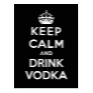 Keep calm and drink vodka postcard