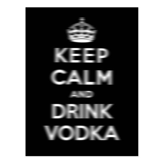 Keep calm and drink vodka postcard