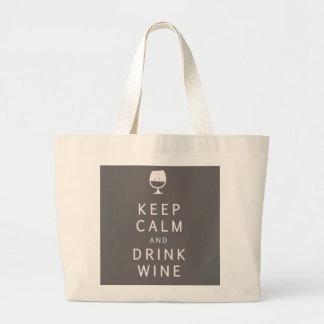 Keep Calm and Drink Wine Tote Bags