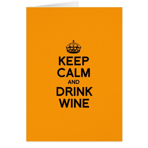 KEEP CALM AND DRINK WINE - Halloween -.png Greeting Cards