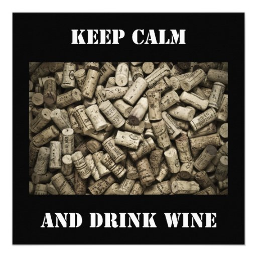 Keep Calm And Drink Wine Personalized Invites