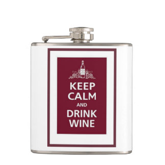 """KEEP CALM AND DRINK WINE"" On the go wine flask"