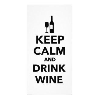 Keep calm and drink Wine Photo Card