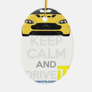 Keep Calm and Drive IT - cod. A-SVantageS Ceramic Oval Decoration
