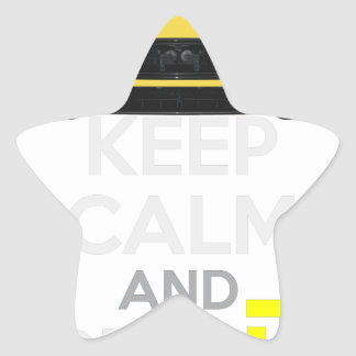 Keep Calm and Drive IT - cod. A-SVantageS Star Sticker