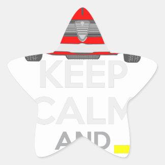 Keep Calm and Drive IT - cod. GiuliaTi Star Sticker