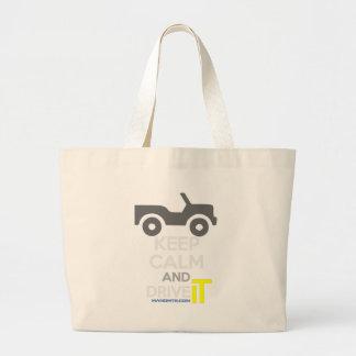 Keep Calm and Drive IT - cod:LDDefender Jumbo Tote Bag