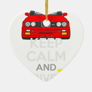 Keep Calm and Drive IT - cod. M3E30 Ceramic Heart Decoration