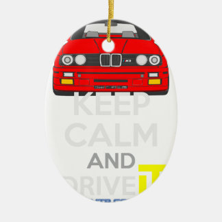 Keep Calm and Drive IT - cod. M3E30 Ceramic Oval Decoration