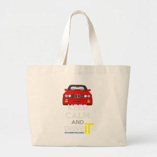 Keep Calm and Drive IT - cod. M3E30 Large Tote Bag