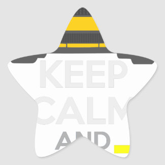Keep Calm and Drive IT - cod. Mustang302Boss Star Sticker