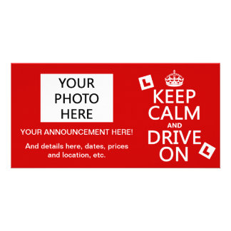 Keep Calm and Drive on (learner) (any color) Picture Card