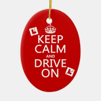 Keep Calm and Drive On (learner) Christmas Ornament