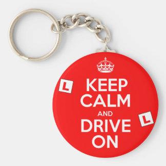 Keep Calm and drive on Learner Key Chain