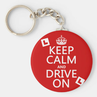 Keep Calm and Drive On (learner) Key Ring
