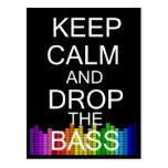 Keep Calm and Drop The Bass Postcard