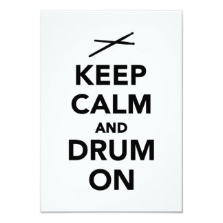 Keep calm and drum on personalized invitation