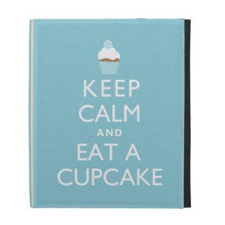 Keep Calm and Eat a Cupcake {blue} iPad Folio Covers