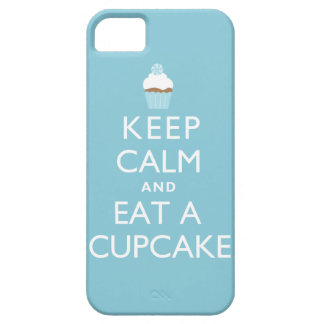 Keep Calm and Eat a Cupcake {blue} iPhone 5 Cases