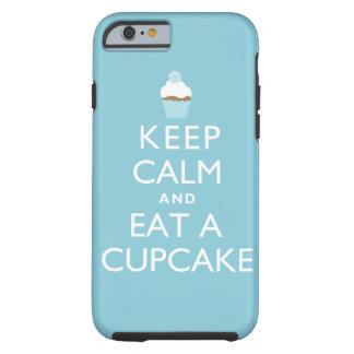 Keep Calm and Eat a Cupcake {blue} Tough iPhone 6 Case