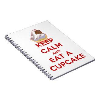 Keep Calm and Eat a Cupcake Notebook